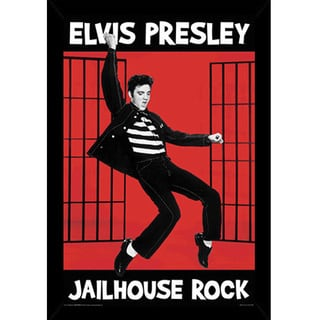 Elvis Presley Jailhouse Rock Print (24-inch x 36-inch) with Contemporary Poster Frame