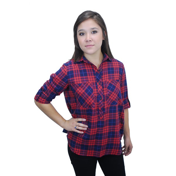 Relished Women's Urban Red Button Up Shirt