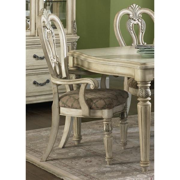 Antique Ivory Estates Splat Back Arm Chair