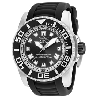 Invicta Men's 14660 Pro Diver Quartz 3 Hand Black Dial Watch