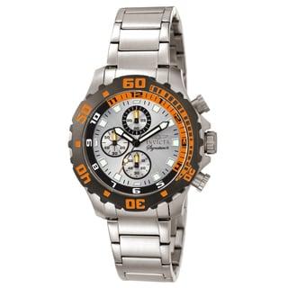 Invicta Men's 7334 Signature Quartz Chronograph Silver Dial Watch