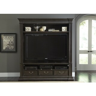Mendenhall Rustic Grey 2 Piece Entertainment Center