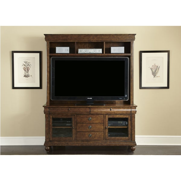 Rustic Traditions Cherry 2 PC Entertainment Center