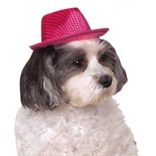 Rubies Pet Pink Fedora Hat
