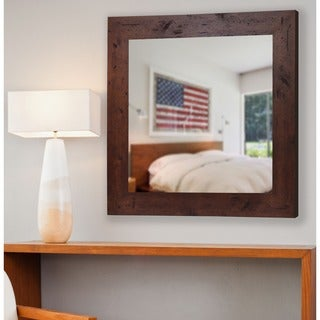 American Made Rayne Rustic Dark Walnut Mirror