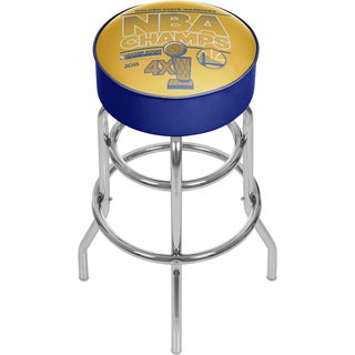 Golden State Warriors Chrome Bar Stool with Swivel