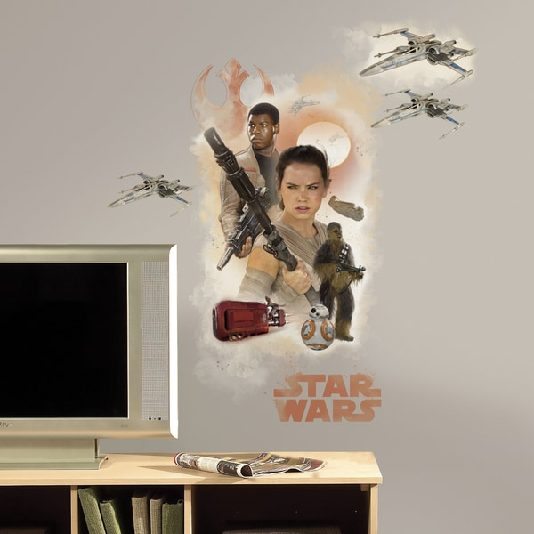 RoomMates Star Wars Episode VII Hero Burst Giant Wall Decal