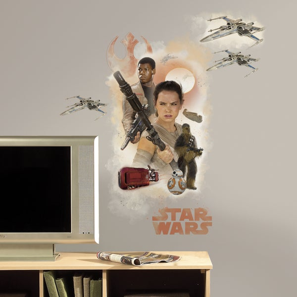 RoomMates Star Wars Episode VII Hero Burst Giant Wall Decal