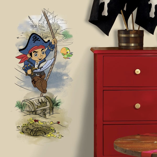 RoomMates Captain Jake and the Never Land Pirates Treasure Giant Wall Decal