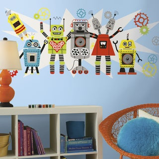 RoomMates Waverly Robots Large Wall Graphix Decal