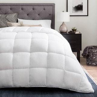 LINENSPA White Down Alternative Quilted Comforter with Corner Duvet Tabs