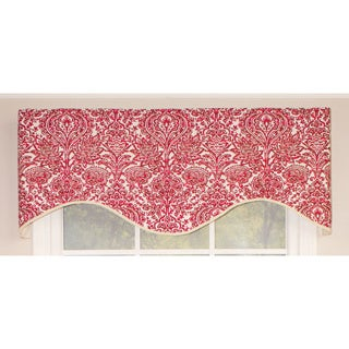 Silo Red and Grey Cornice Valance