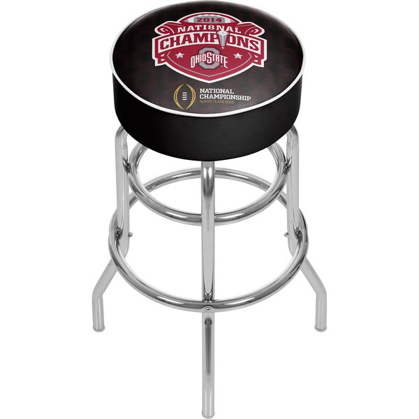 Ohio State National Champions Chrome Bar Stool with Swivel 16416124