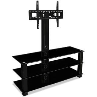 Mount-It! MI-866 32 to 60-inch Flat Screen TV Mount Entertainment Center with 3 Tempered Glass Shelves