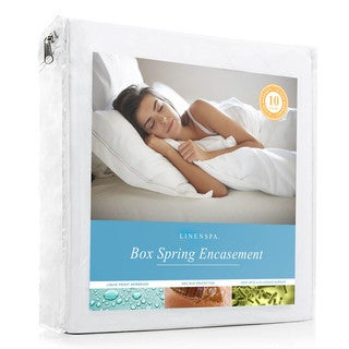 Waterproof and Bed Bug Proof Box Spring Encasement Protector by Linenspa Essentials