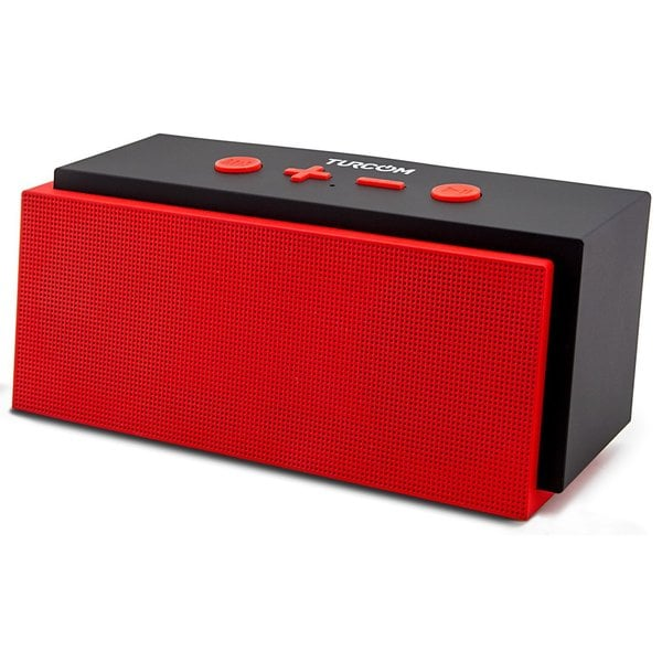 Turcom TS-453 Portable Bluetooth Wireless Stereo Speaker with Enhanced Bass Boost and Built in Mic