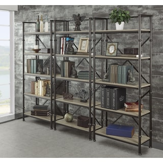 Griffeth 72-inch Bookcase Wall (Set of 3)