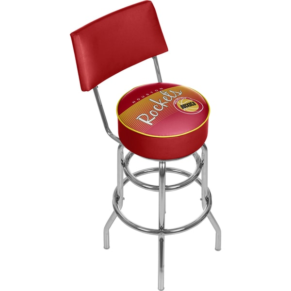 Houston Rockets NBA Hardwood Classics Bar Stool with Back