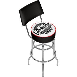 Coca Cola Brazil 1886 Pub Stool with Back