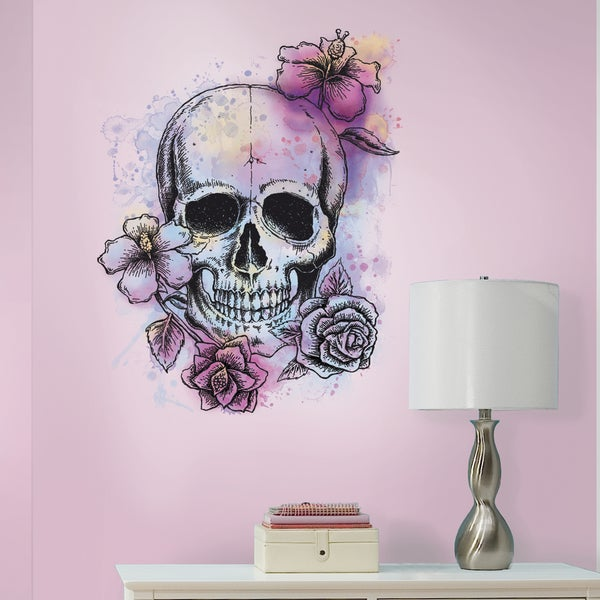 RoomMates Bright Floral Skull Giant Wall Decal