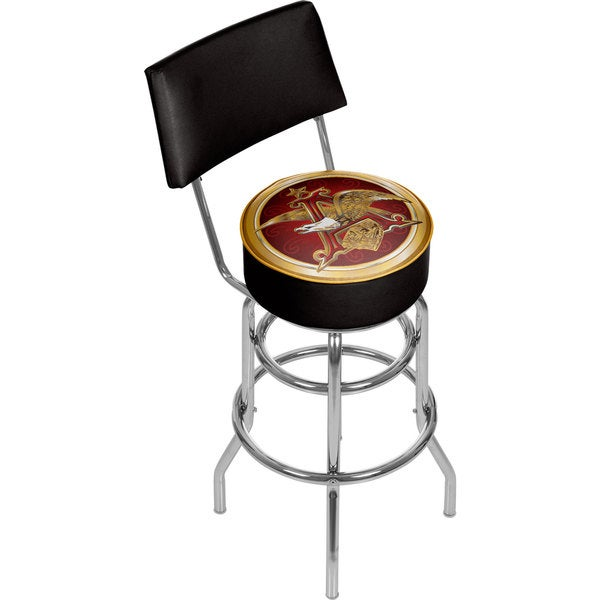 Budweiser A & Eagle Padded Bar Stool with Back
