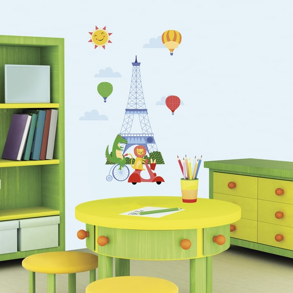 RoomMates Animals in Paris Large Wall Decals