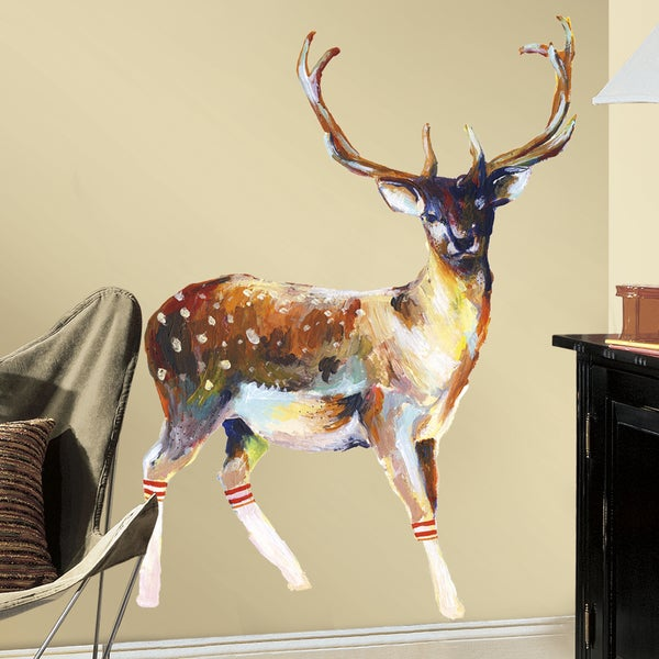 RoomMates Deer with Socks Giant Wall Decals