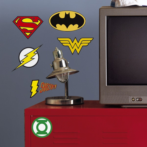 RoomMates DC Superhero Logos Giant Wall Decals