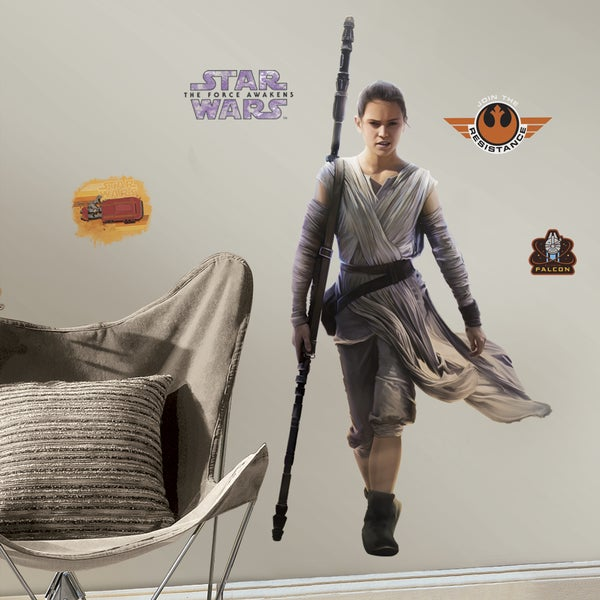 RoomMates Star Wars Episode VII Rey Giant Wall Decals 16416557