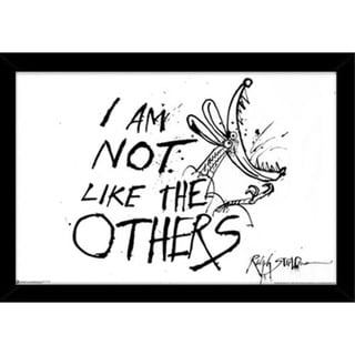 Ralph Steadman I'm Not Like the Others Print (36-inch x 24-inch) with Traditional Black Frame