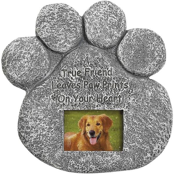 Dog Paw Photo Tombstone