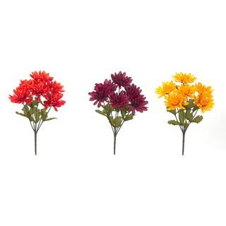 Autumn Mum Bush Floral Stems (Set of 3)