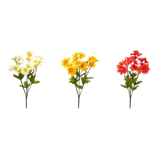 Autumn Mini Daisy Floral Stem (set of 3)