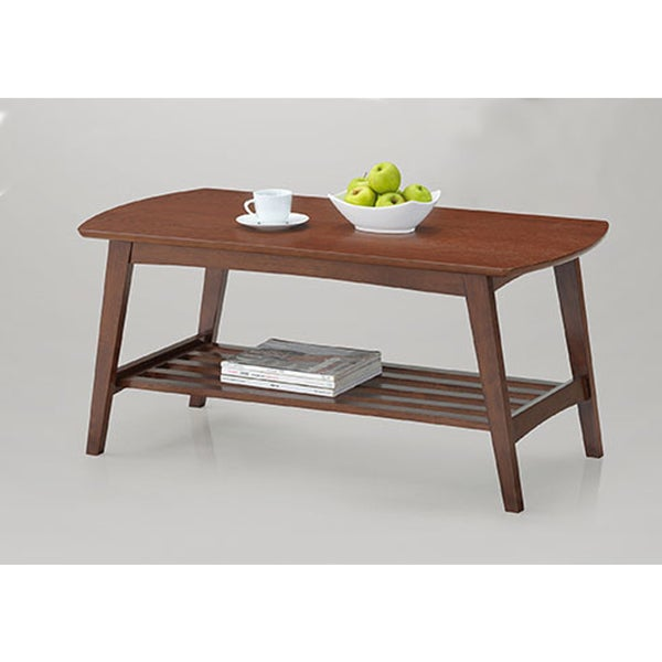 Sacramento Mid-Century Modern Scandinavian Style Dark Walnut Coffee Table