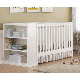 Baby Relax Ayla White 2-in-1 Convertible Crib with Storage