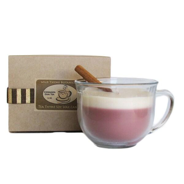 Wild Thyme Botanicals Tea Thyme Chai Tea Soy Wax Candle