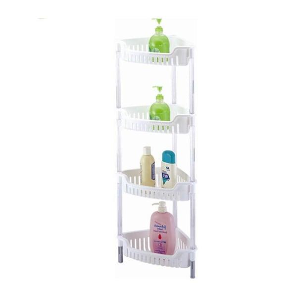 White Corner 4-tier Storage Unit for Shower/ Bath/ Kitchen