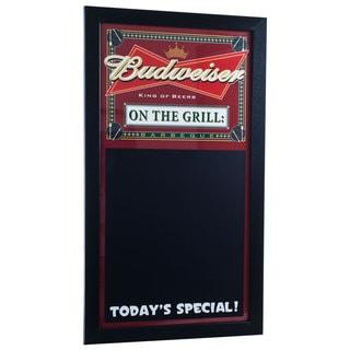 Budweiser BBQ Write On Menu Chalk Board - On The Grill