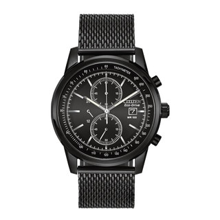Citizen Eco-Drive Men's Mesh Chronograph Watch