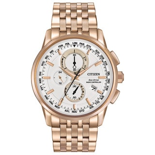 Citizen Men's AT8113-55A Eco-Drive World Chronograph AT Watch