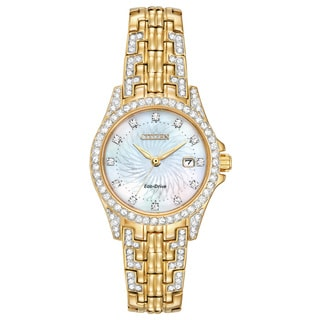 Citizen Eco-Drive Women's Silhouette Crystal Watch