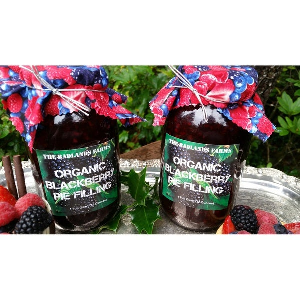 The Badlands Farm Fresh Organic Wild BlackBerry Pie Filling and Topping (2 quarts)