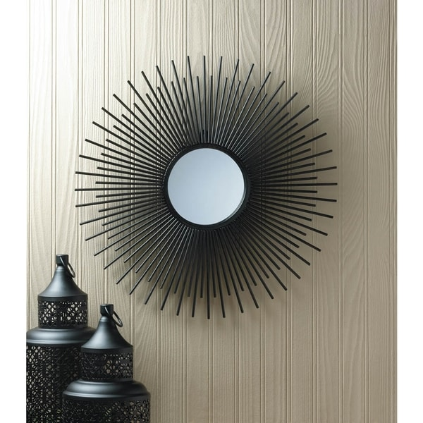 Decorative Starburst Black Wall Mirror