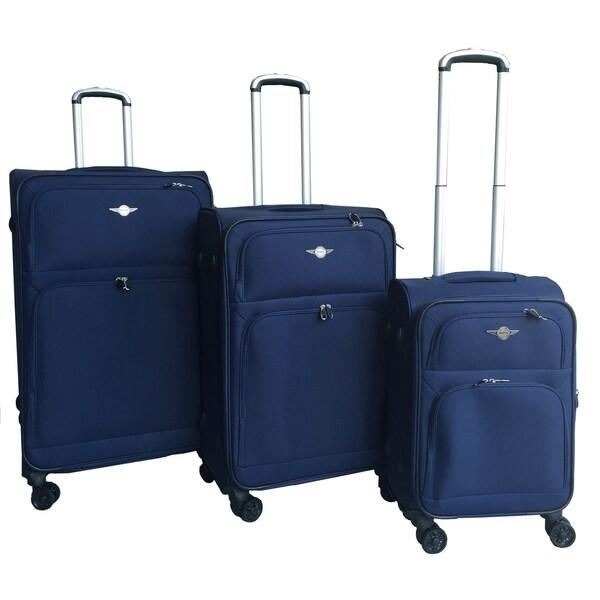 RivoLite Ultra Soft 3-piece Spinner Luggage Set