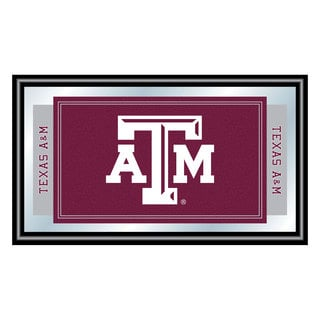 Texas A&M University Logo and Mascot Framed Mirrort