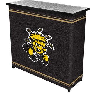 Wichita State University? 2 Shelf Portable Bar w/ Case