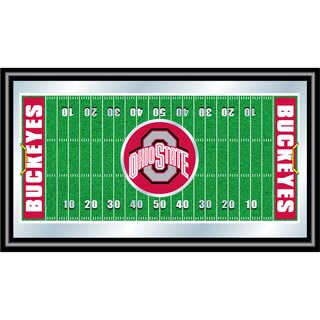 The Ohio State Framed Football Field Mirror
