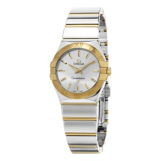 Omega Women's 123.20.27.60.02.004 'Constellation' Silver Dial Stainless Steel/Yellow Gold Swiss Quartz Watch