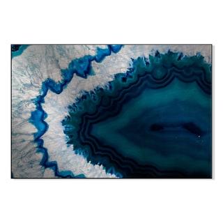 Gallery Direct Blue Brazilian Geode Print on Metal Wall Art
