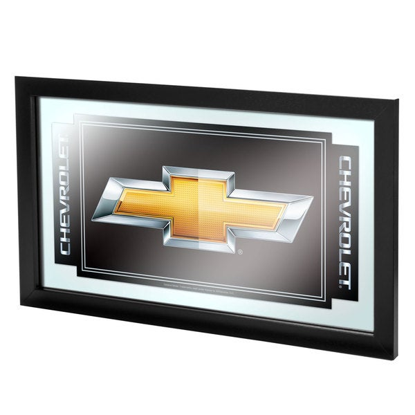 Chevy Chevrolet Bow Tie Framed Mirror